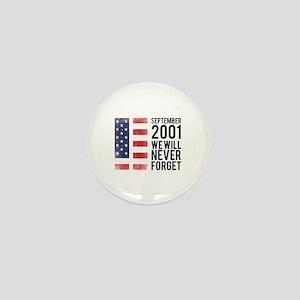 9 11 Remembering Mini Button