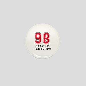 98 Year birthday designs Mini Button