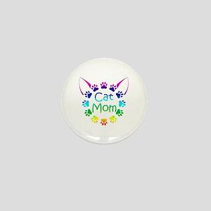 """""""Cat Mom"""" Mini Button"""