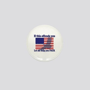 Flag Eagle Patriot Mini Button