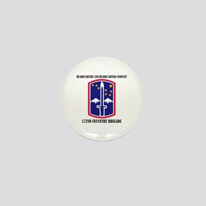 HHC - 172 Infantry Brigade with text Mini Button