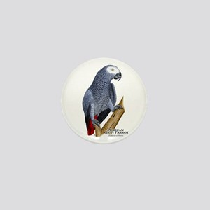 African Gray Parrot Mini Button