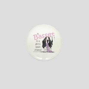 Basset Girls Friend Mini Button