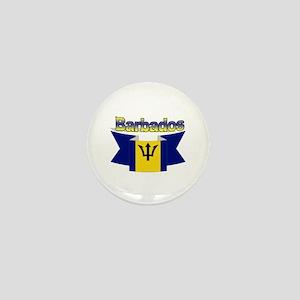 The Barbados flag ribbon Mini Button