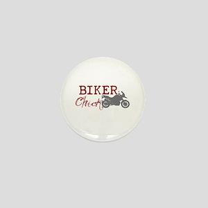 Biker Chick Mini Button
