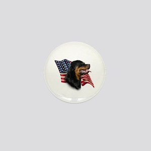 Rottweiler Flag Mini Button