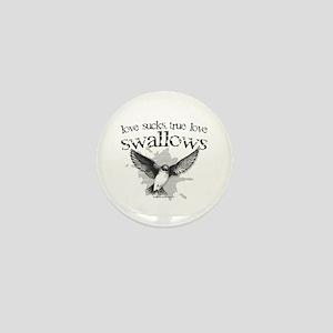True Love Swallows Mini Button