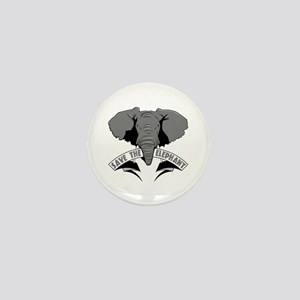 Save The Elephant Mini Button