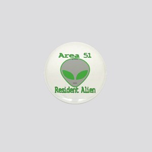 Area 51 Resident Alien Mini Button