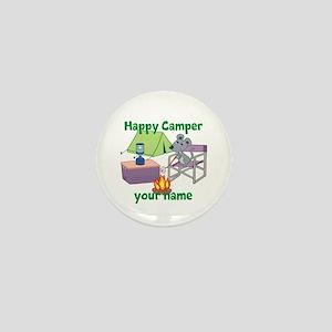 Custom Happy Camper Mouse Mini Button