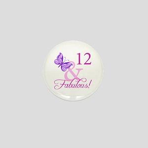 Fabulous 12th Birthday Mini Button