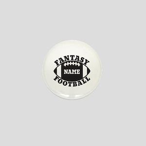 Personalized Fantasy Football Mini Button