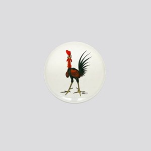 Crazy Rooster Mini Button