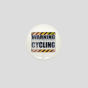 Warning: Cycling Mini Button