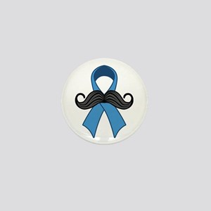 Prostate Awareness Ribbon Moustache Mini Button