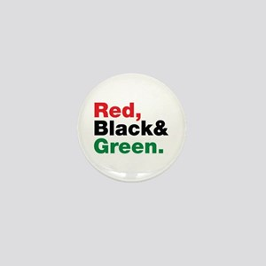 Red, Black and Green. Mini Button