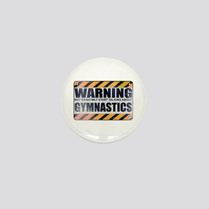 Warning: Gymnastics Mini Button