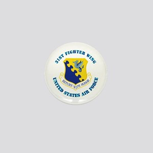 31st Fighter Wing with Text Mini Button