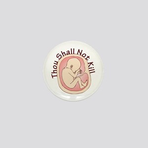 Thou Shall Not Kill Mini Button