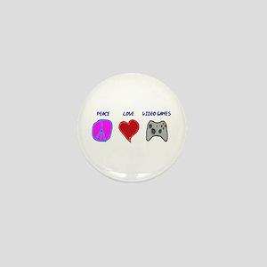 Peace love video games Mini Button