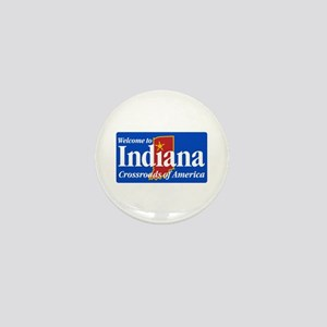 Welcome to Indiana - USA Mini Button