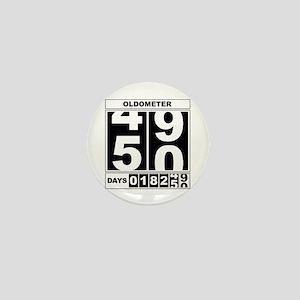 50th Birthday Oldometer Mini Button