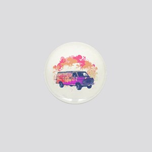 Retro Hippie Van Grunge Style Mini Button