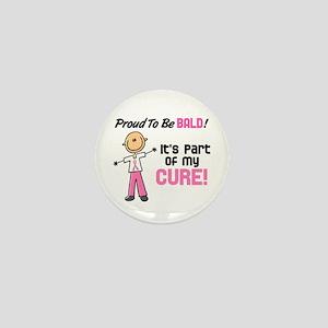 Bald 1 Breast Cancer (SFT) Mini Button