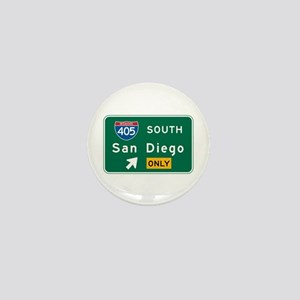 San Diego, CA Highway Sign Mini Button