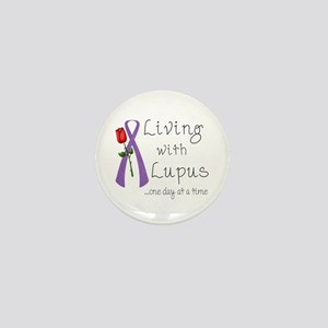 Living with Lupus One Day at a Time Mini Button