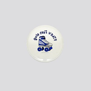 Blue Roller Derby Skate Mini Button