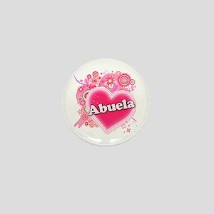 Abuela Heart Art Mini Button