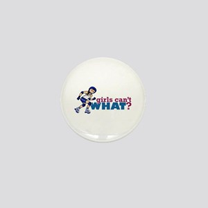 Blue Roller Derby Girl Mini Button