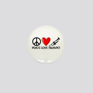 Peace, Love, Trumpet Mini Button