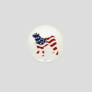 Patriotic Pug - Mini Button