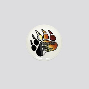 BEAR PRIDE PAW/SCRATCH/SNIFF Mini Button