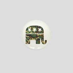 Republican Camo Elephant Mini Button