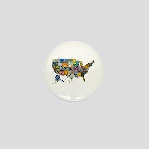 america license Mini Button