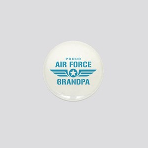 Proud Air Force Grandpa W Mini Button