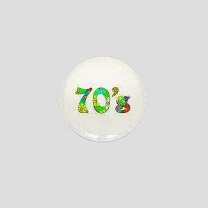 70's Flowers Mini Button