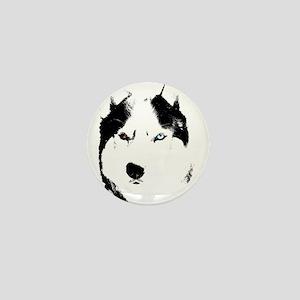 Husky Bi-Eye Husky Dog Mini Button
