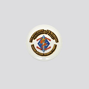 1st Bn - 4th Marines with Text Mini Button
