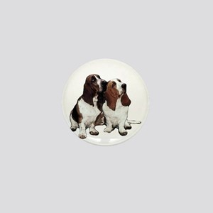Basset Hound Mini Button
