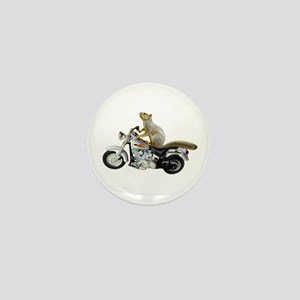 Motorcycle Squirrel Mini Button