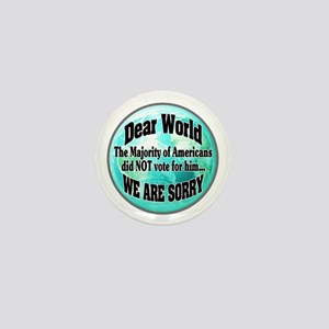 Dearest World Sorry Mini Button