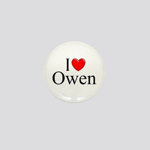 """I Love (Heart) Owen"" Mini Button"