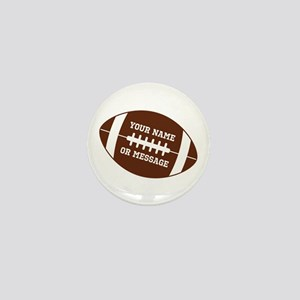 YOUR NAME Football Mini Button