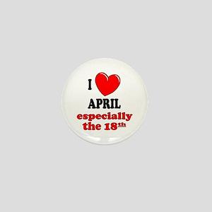 April 18th Mini Button