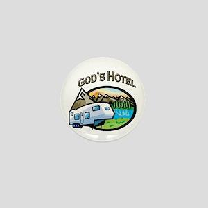 God's Hotel Mini Button