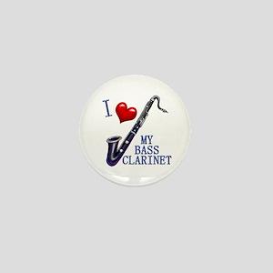 I Love My BASS CLARINET Mini Button